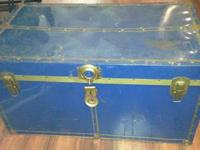 Metal Trunk  Great for storage or decor or awesome