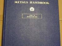 Metals Handbook, 8th Edition,Author American Society