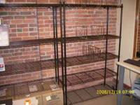 ATTRACTIVE HEAVY DUTY BLACK 6' HIGH SHELVING. SEVEN