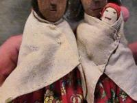 Mexico Tarahumara Indian Carved Dolls -- Sold separate