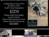 Get your Mexico Turkey journey booked now!! Hunting