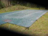 Meyco mesh netting safety pool cover. Fits 20' X 40'
