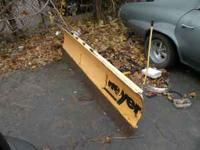 Meyers Snow Plow off of early 90's Ford Pickup with