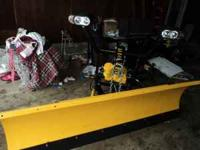MEYERS SNOW PLOW IT IS A LOT PRO NEWER CONDITION E-58