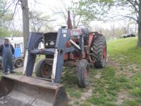 MF 1085 SERIAL # 9B4929Z WITH ALLIED 590 LOADER TRACTOR