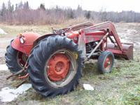 Massey Ferguson 135 Tractor with Loader gas engine just
