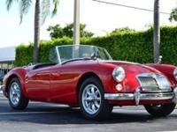 This 1960 MG MGA . Convertible features a 1600 cyl
