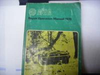 I have 3 manuals for an MGB. The first is a Owners