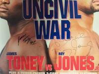 James Toney Vs Roy Jones Signed Poster The Uncivil