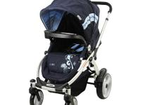 The Mia Moda Atmosferra Stroller in Navy is a