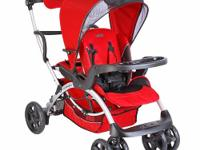 Compagno stroller features standing board for older