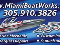 Good Day, We are Miami Boat Works a complete