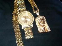 12mm Miami Cuban link chain with Jesus pendant 250grams