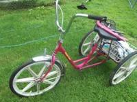 miami sun trike, 3 wheel , cruiser, bike $75.00 OBO the