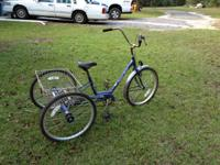 This bike is a Miami Sun Trike. It is about 7 years old