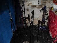 Mic stands I was using for my drumset that I SOLD last