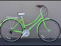 Lime eco-friendly color! Micargi Kuba 7 21-speed gals