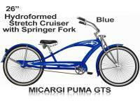 Micargi Puma GTS Stretched Beach Cruiser Bicycle Bike