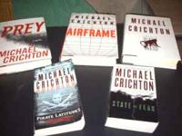 5 Recent Michael Crichton books in a lot. 3 of them are