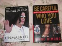2 Michael Jackson Hardcover Books, new condition, $4