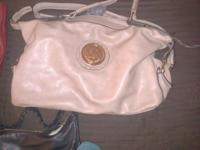 1 MICHAEL Kors red tote, 1 Michael Kors beige handbag,