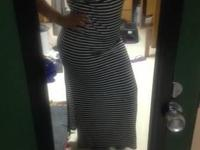 Size Large. Maxi outfit with knee length slits on both