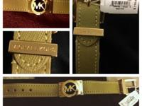 This fashionable NEW Michael Kors Saffiano Leather Gold