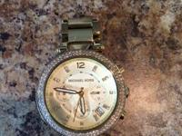 "I am selling my like-new Michael Kors ""Parker"" Watch."