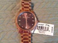 Michael Kors Blake Brown Dial Rose Gold-Tone Ladies