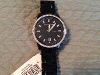 Michael Kors black Acrylic Band Glitz Women's Watch,