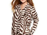 Liven up your everyday look with this zebra-printed
