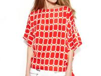 MICHAEL Michael Kors' bold graphic-printed top enlivens