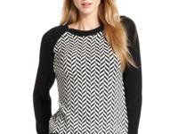 Bold chevron stripes combined with a classic silhouette