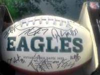 700 obo its 2 footballs Official eagles signed football