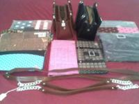 Selling one black and one brown purse, brown has two