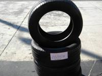 SET OF 4 USED TIRE MICHELIN 2555518  	FOR MORE INFO