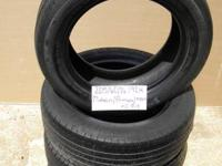 SET OF 4 USED TIRE Michelin mxv4 2056016  	FOR MORE