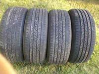 4 contintenal tires by michelin 215 75 16 call jackie @