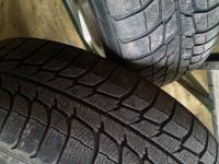 2 Michelin X-ice M&S tires on rims 215/60 R16 for sale