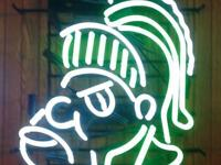 For Sale ...... Two different style Michigan State neon