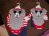 . Brand name new disney Mickey Mouse 3-piece clothing.