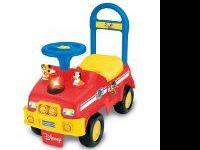 Mickey Mouse Fire Engine Activity Ride-On, has nothing