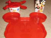brand new Tupperware red Mickey Mouse lunch/dinner set,