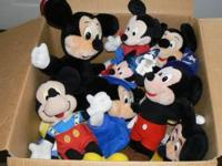 Large Box full of Mickey mouse plush toys. all sizes...