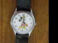 Here is a great Mickey Mouse Watch, needs batteries.