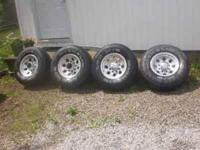 Set of 4 Mickey Thompson aluminum wheels with tires