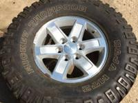 I have for sale 4 wonderful GMC rims W/Mickey Thompson