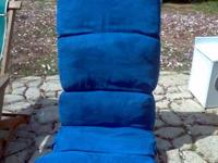 blue Micro  fabric floor lounge chair   Adjustable