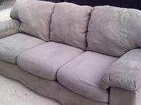 3 CUSHION MICRO FIBER COUCH (was 85$)NOW 70$$** - Has