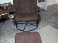 I am selling a Brown, micro glider rocker with matching